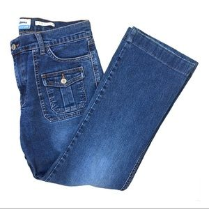 Old Navy retro style 6 pocket mid rise crop jeans